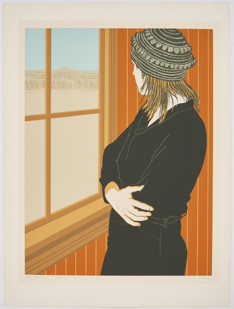 Lot 898: 2 Phyllis Lester Sloane Silkscreen Prints of Women