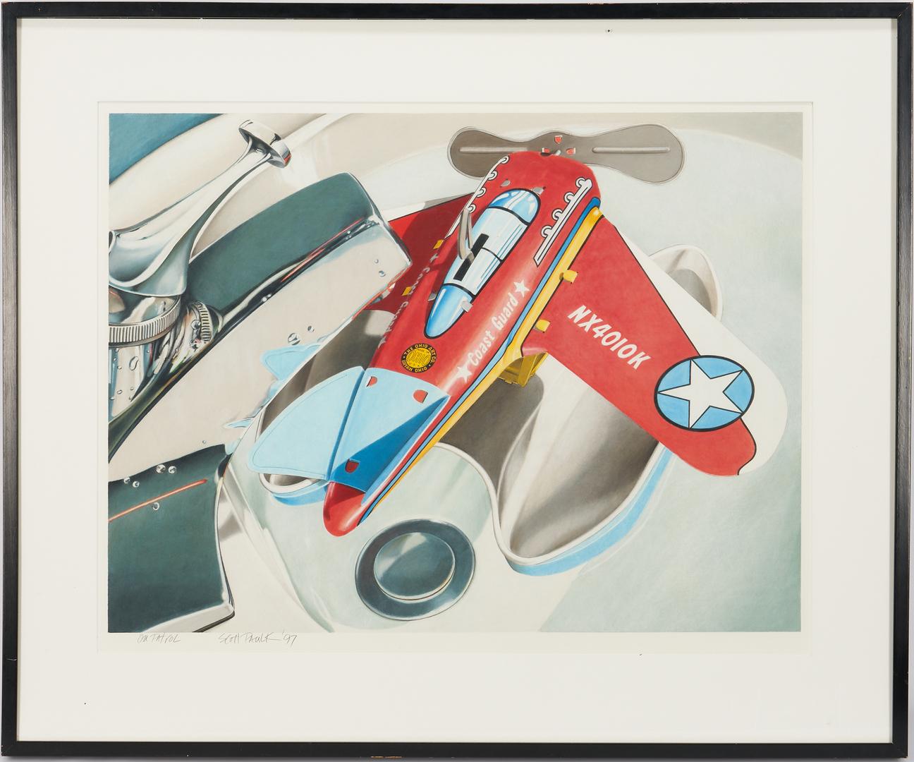 Lot 901: Exhibited Scott Paulk Drawing, On Patrol
