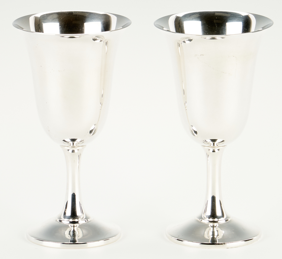 Lot 903: 7 Wallace Sterling Silver Goblets & 3 others