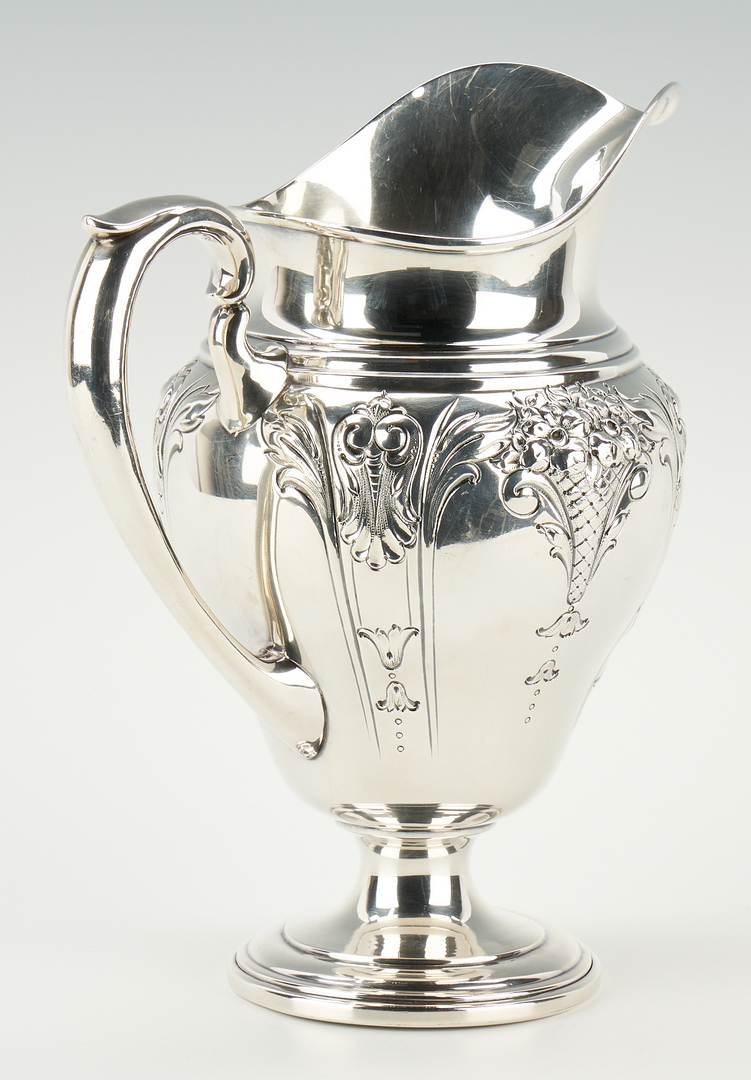 Lot 905: American Sterling Silver Water Pitcher