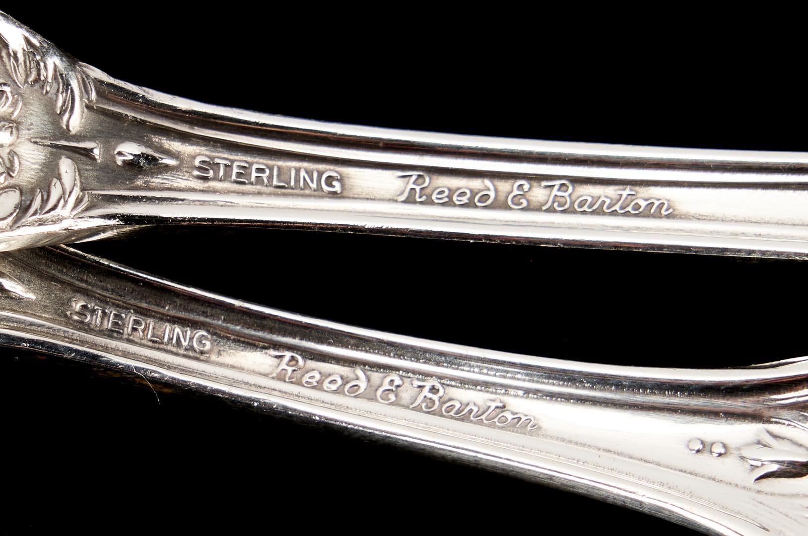 Lot 90: 116 Pcs. Reed & Barton Francis I Sterling Silver Flatware
