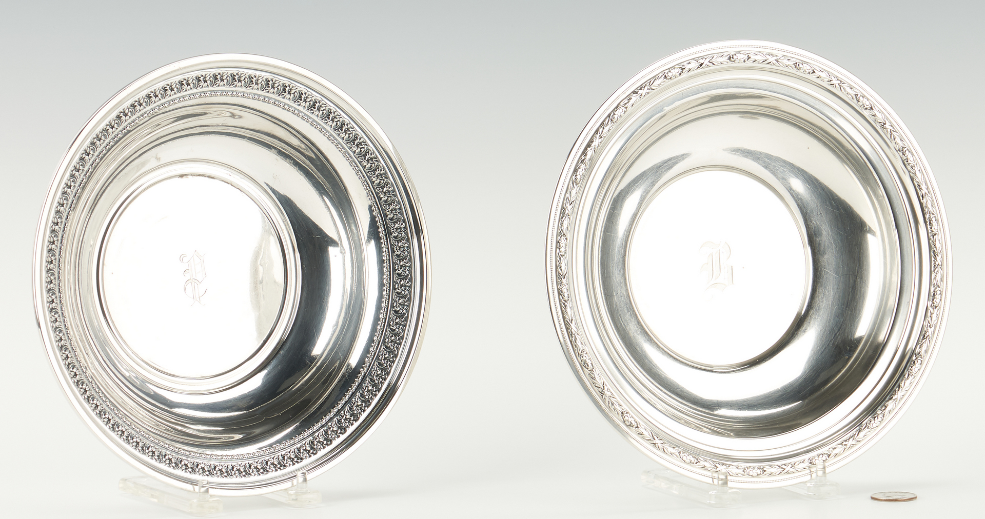 Lot 910: 4 Sterling Silver Bowls, incl. Alvin and Wallace