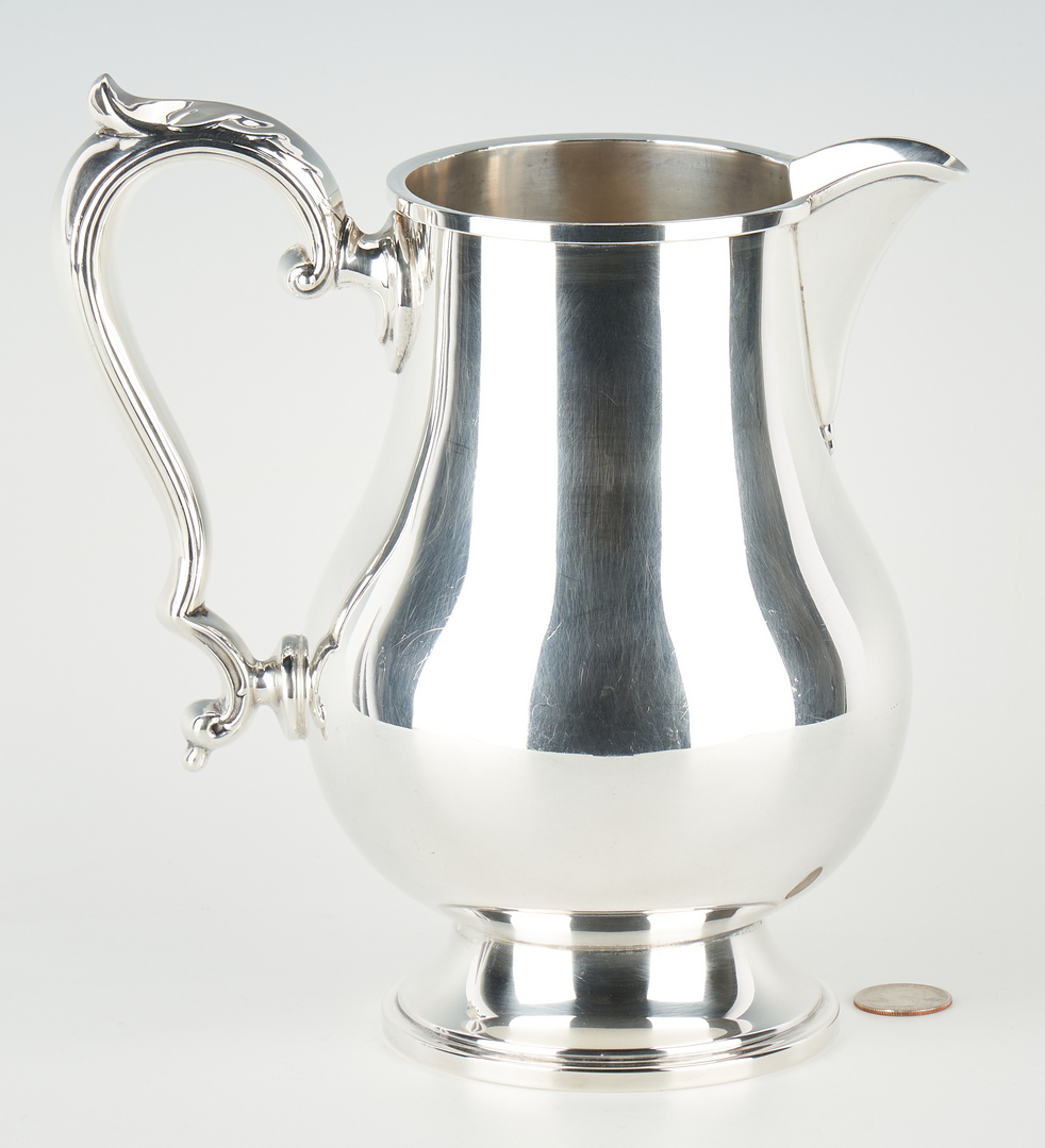 """Lot 918: Fisher """"Early Georgian"""" Sterling Silver Water Pitcher"""