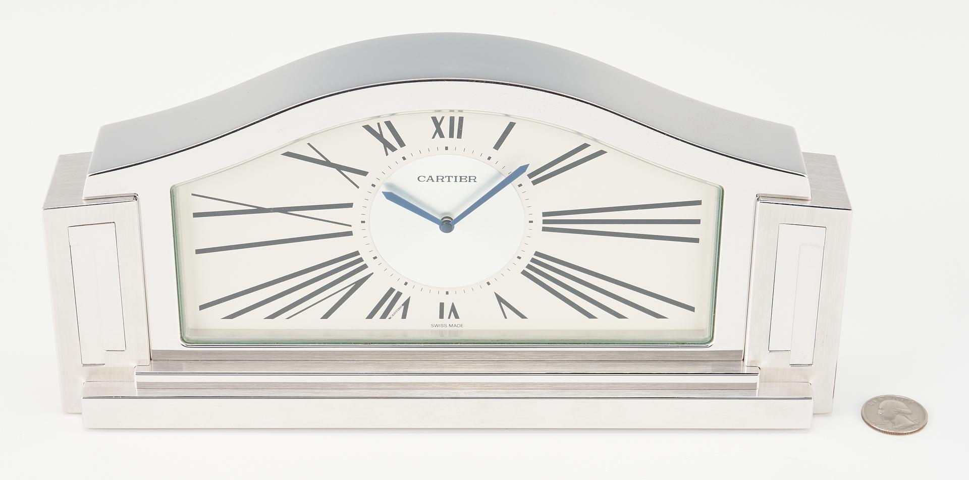 Lot 932: Cartier Art Deco Style Desk Clock