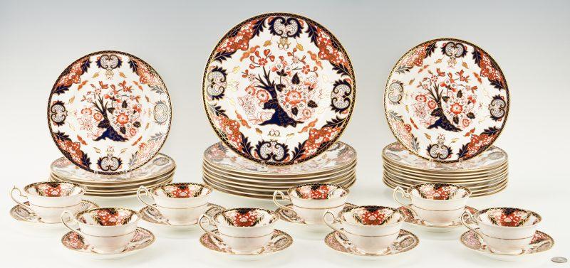 Lot 939: 40 Pcs. Royal Crown Derby Kings Pattern Dinnerware