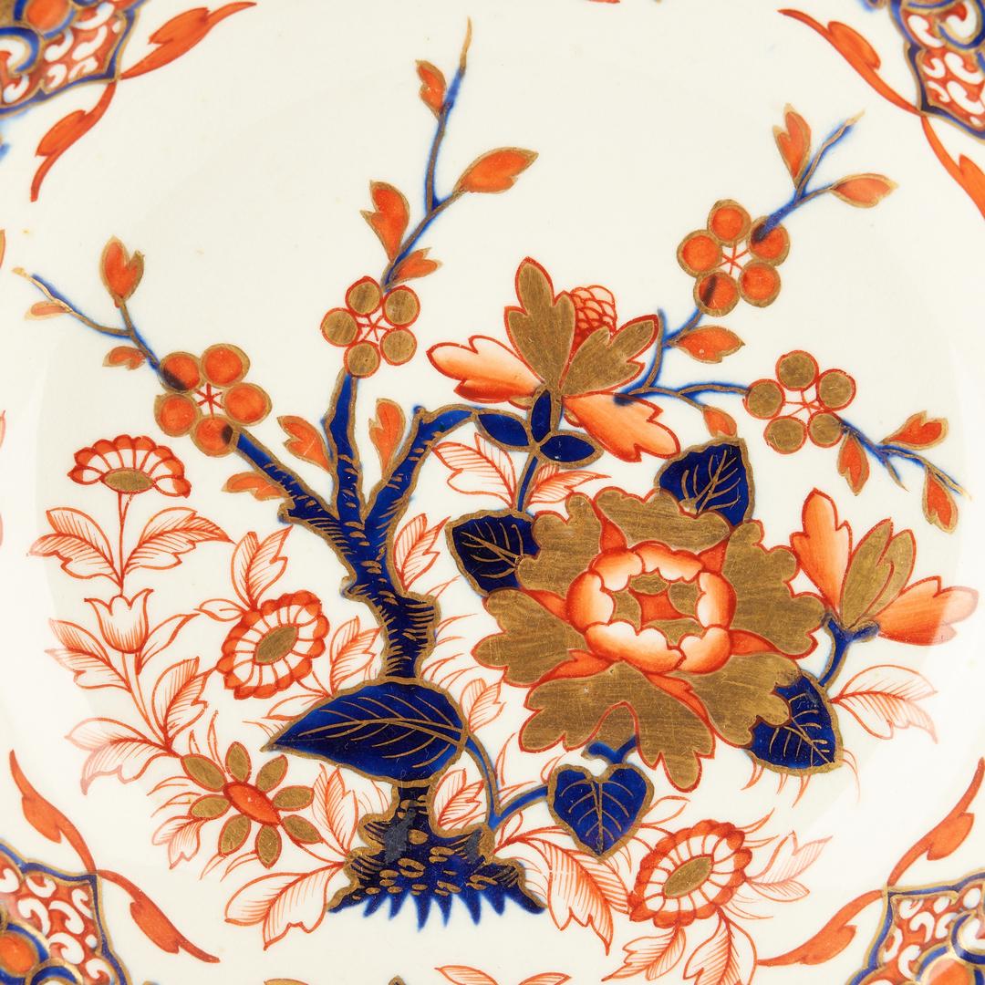 Lot 940: 7 Royal Crown Derby Porcelain Soup Plates, Imari Pattern