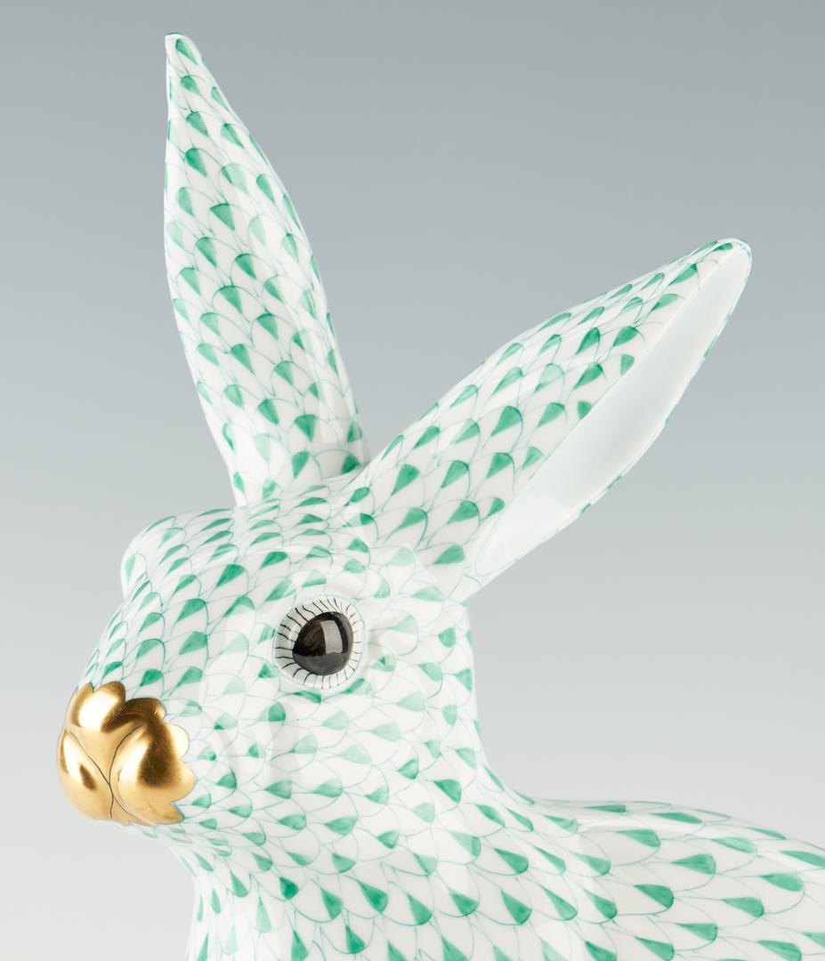 Lot 942: Large Herend Green Fishnet Bunny Rabbit, Model 5334