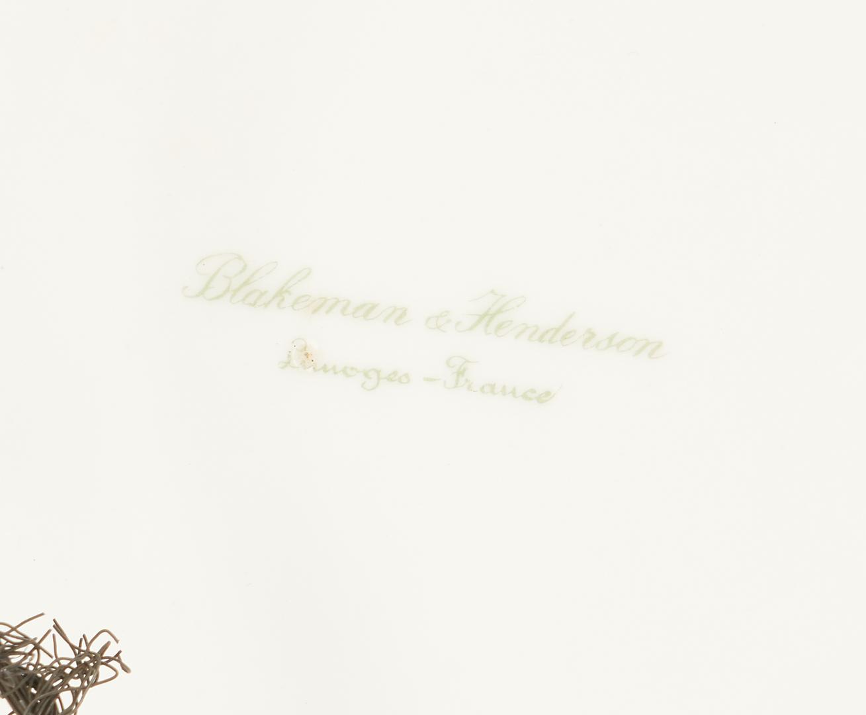 Lot 948: 2 Blakeman & Henderson, Limoges Porcelain Chargers
