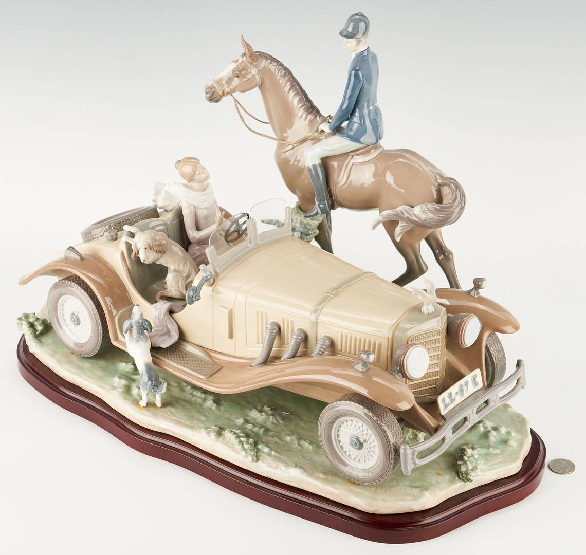 Lot 951: Limited Edition Lladro Porcelain Figurine Group, Happy Encounter