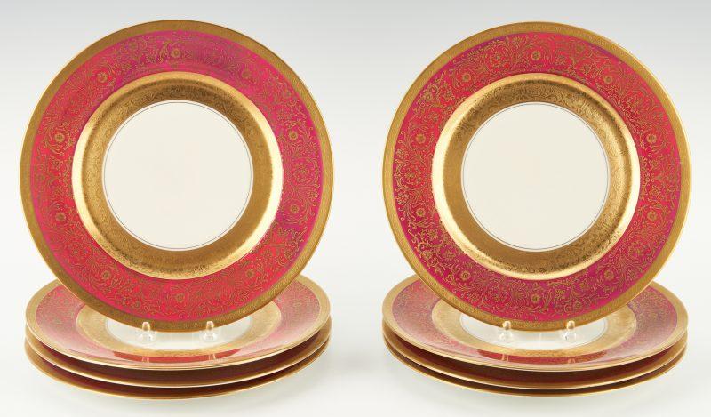 Lot 954: 8 Heinrich & Co., Selb Porcelain Service Plates