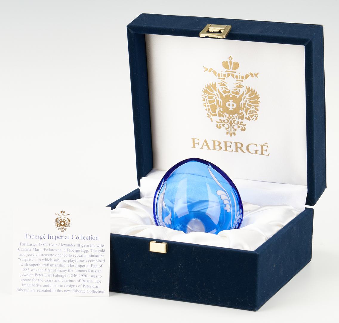 Lot 959: Faberge Crystal Caspian Caviar Dish w/ Original Case