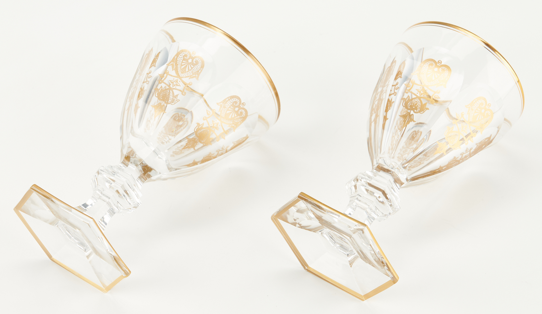 Lot 960: 6 Baccarat Empire Pattern Goblets