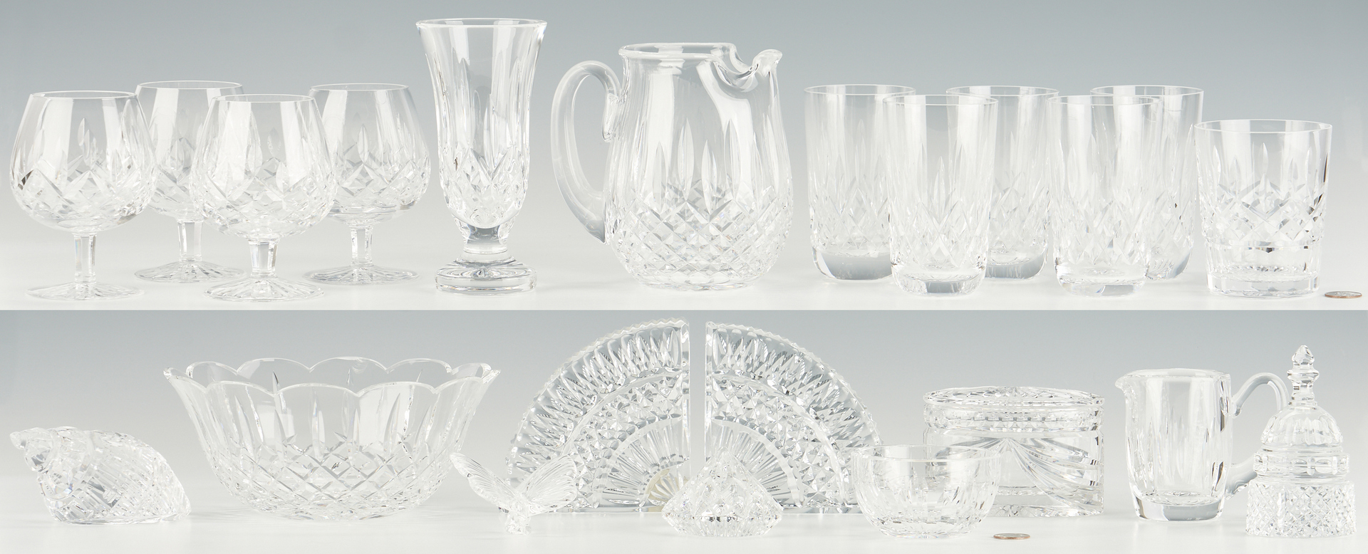 Lot 962: 22 Pcs. Waterford Crystal, incl. Drinkware & Novelty Items
