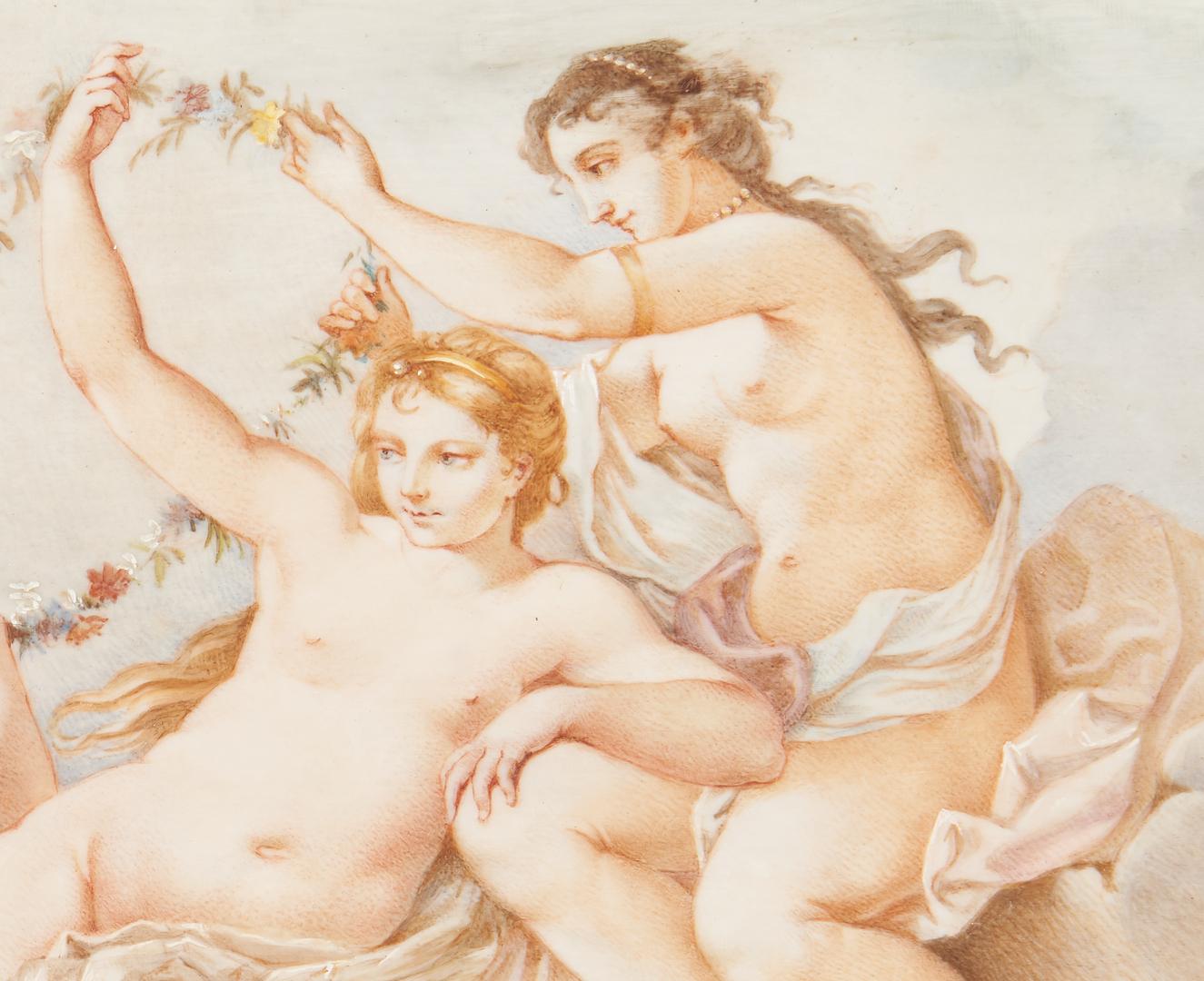 Lot 968: Italian Watercolor Classical Scene, signed Abel