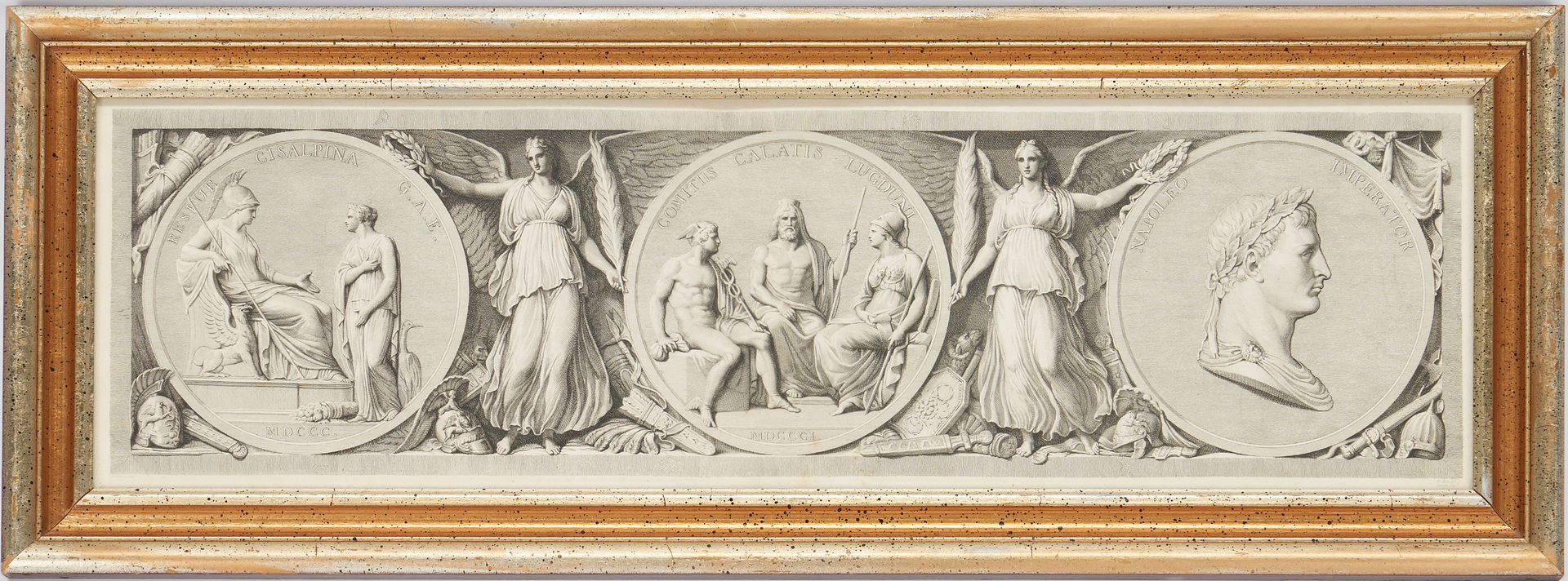 Lot 971: 5 Neoclassical Prints, incl. 4 After Appiani, Napoleon Related