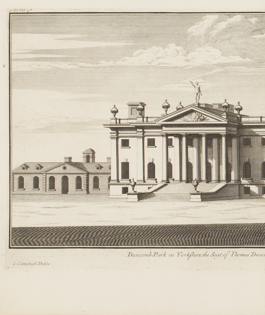 Lot 973: 4 Colen Campbell English Architectural Elevation Engravings, incl. St. Paul's Church
