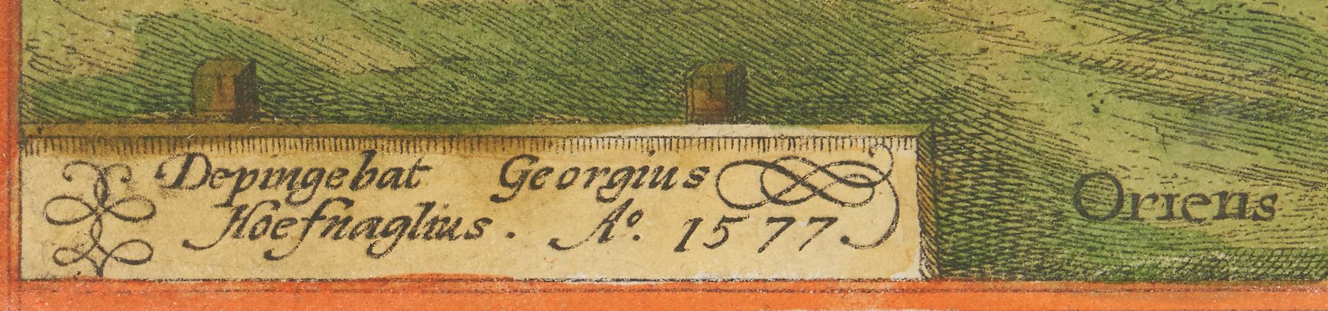 Lot 975: Frans Hogenberg Engraving, Nocerra in Appennino Monte