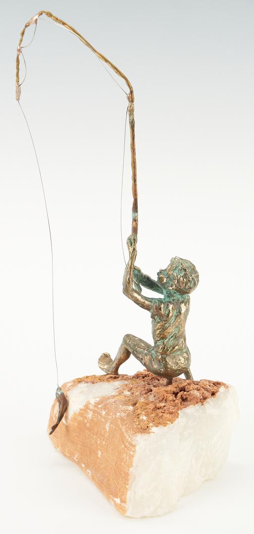 Lot 978: 3 Curtis Jere Bronze Sculptures Depicting Children