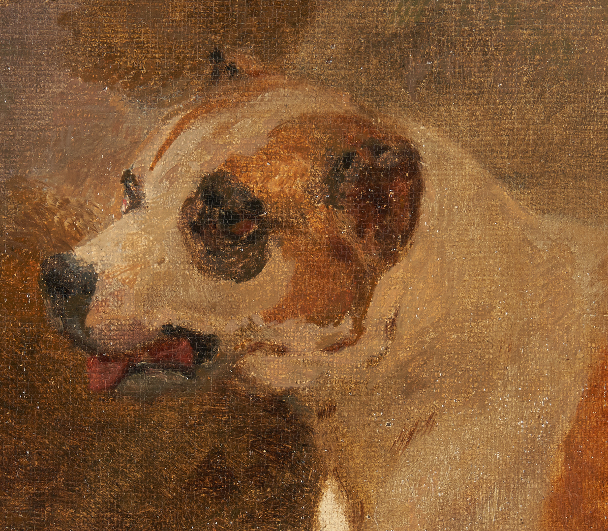 Lot 984: Continental School O/C, Painting of a Dog