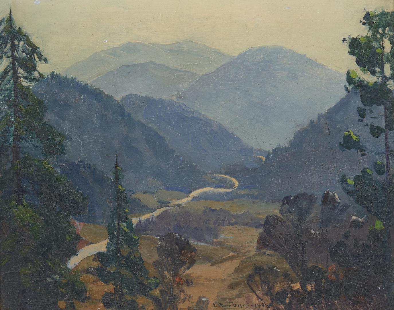 Lot 986: Louis E. Jones O/B Landscape Painting, Great Smoky Mountains
