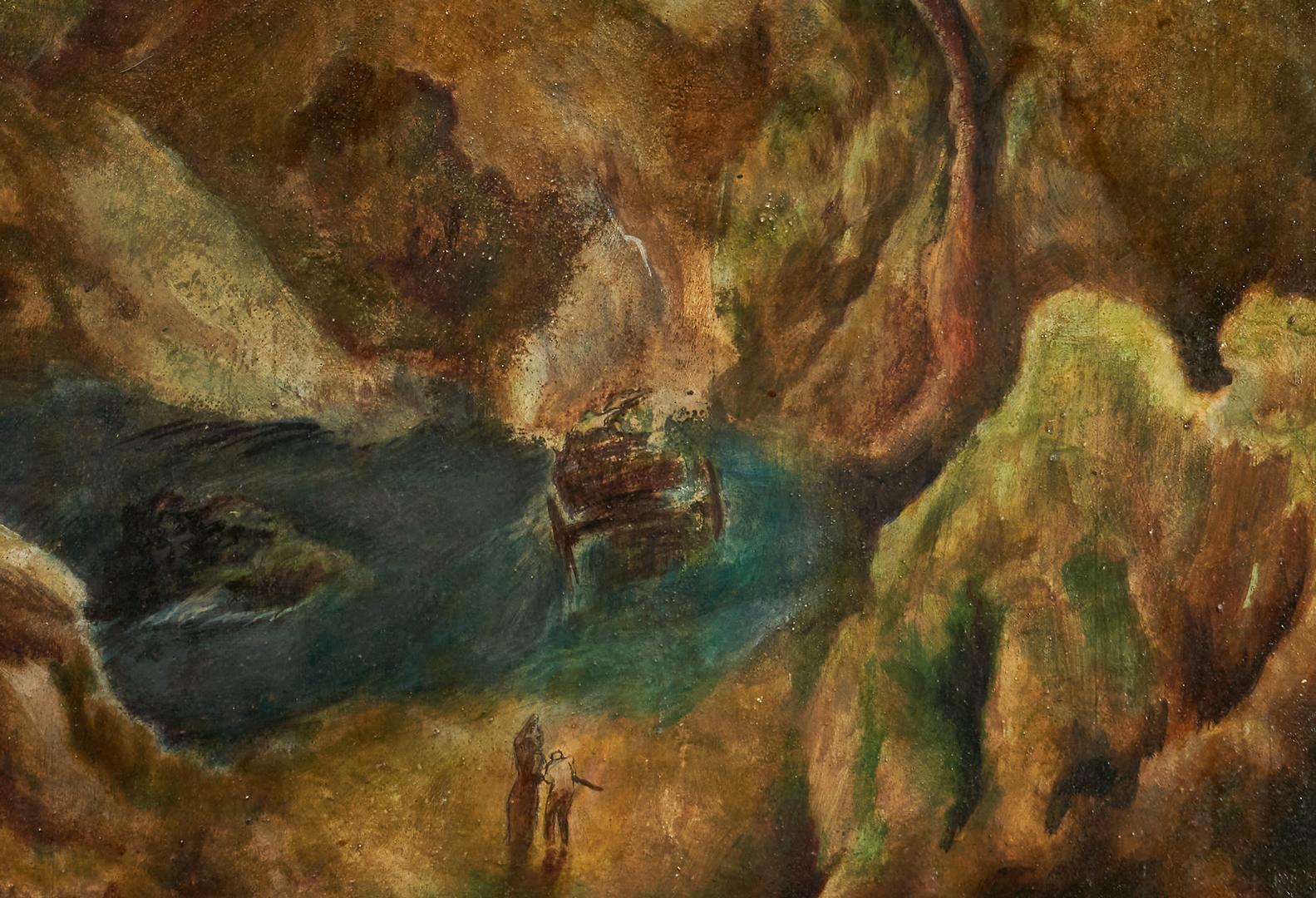 Lot 988: Avery Handly O/B Painting, Miss Aletha's Last Ride