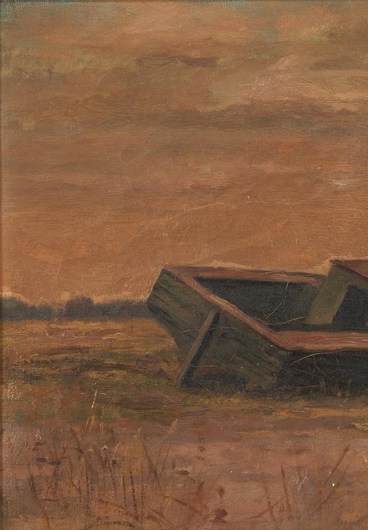 Lot 994: Cornelius Hankins O/C Beached Fishing Boat, 1896