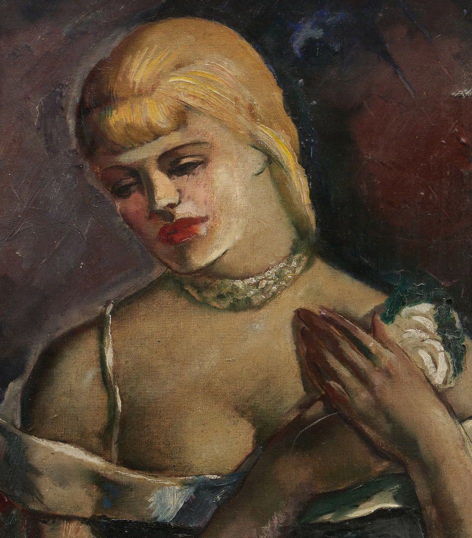 Lot 995: Charles Cagle TN Figurative Painting and Drawing (2 Items)