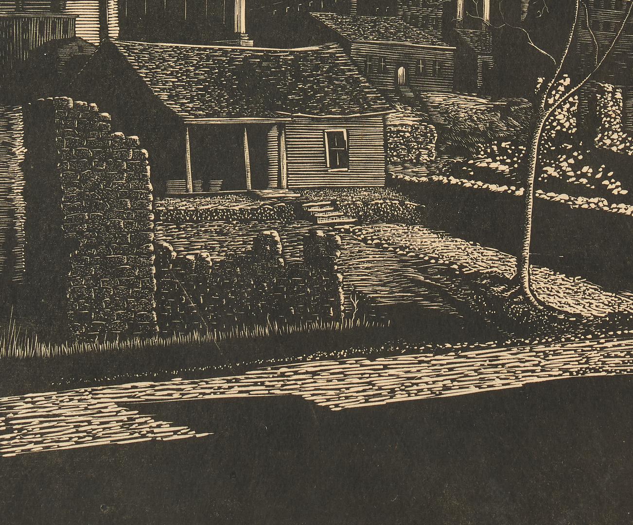 Lot 996: Ernest Pickup Wood Engraving, TN Capitol plus WWII Illustration