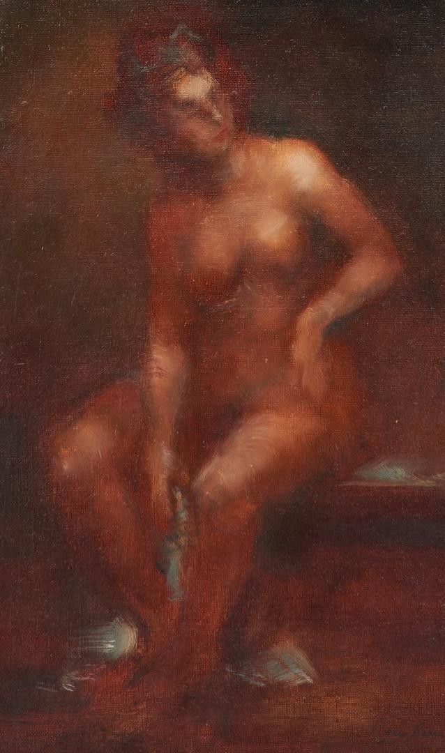 Lot 997: 2 Gus Baker Nude Oil Portraits