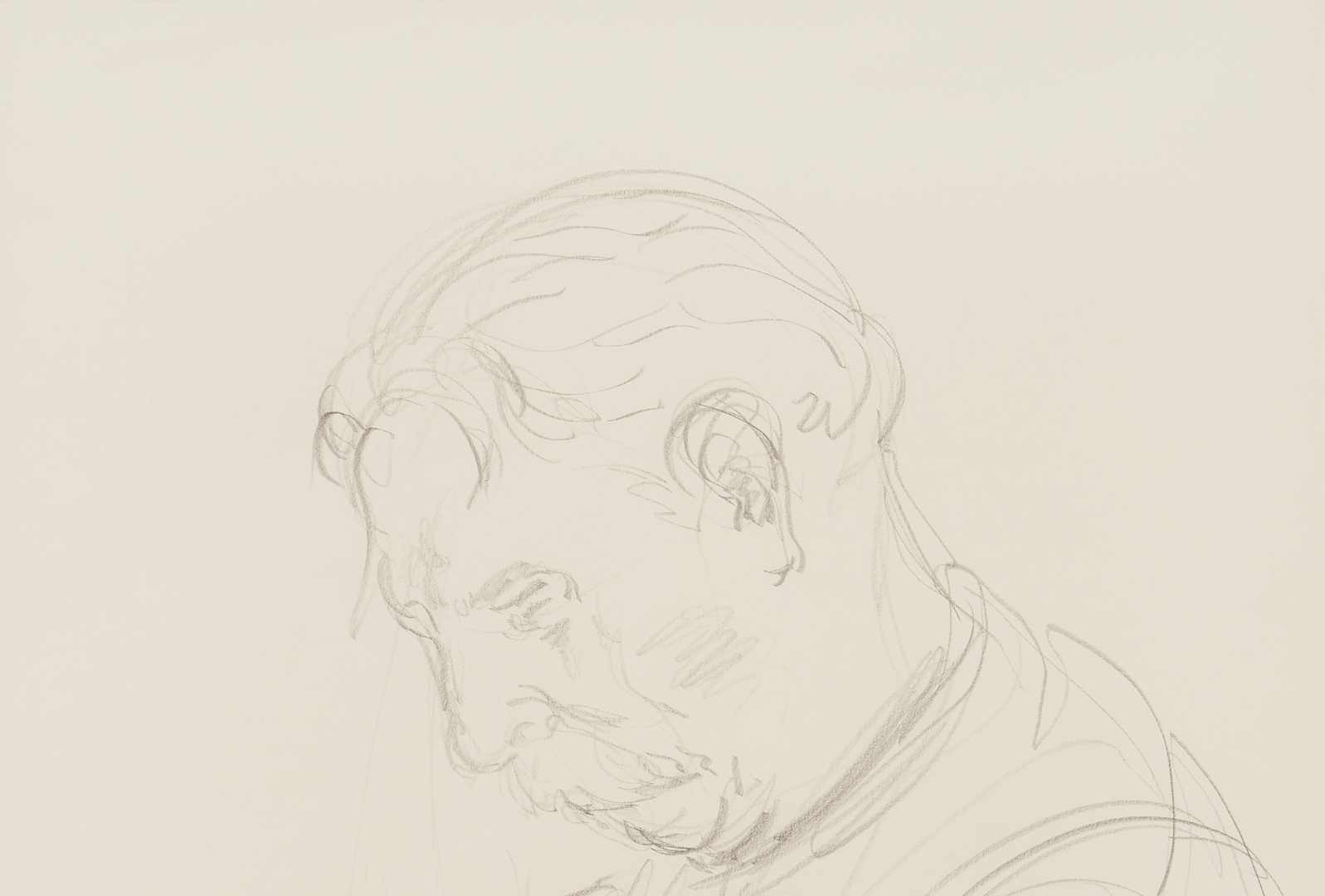 Lot 998: Alan Lequire Pencil Drawing, Albert Schweitzer