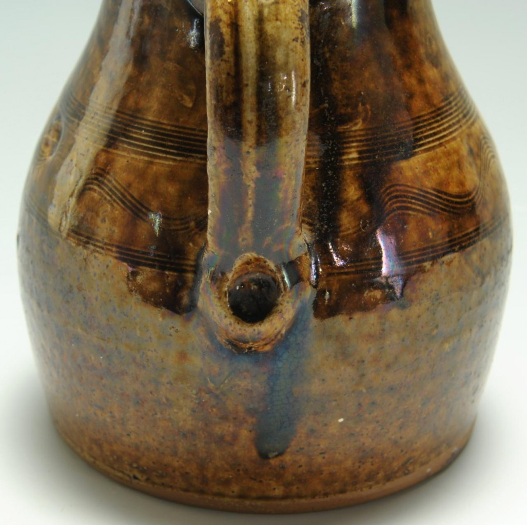Lot 102: Alabama Alkaline-glazed Pottery Pitcher