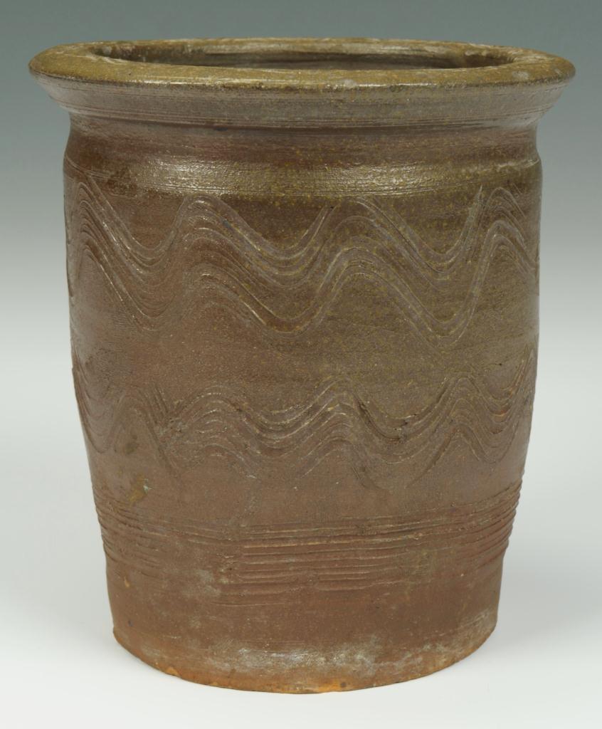 Lot 104: Greene Co. TN stoneware creampot sine waves