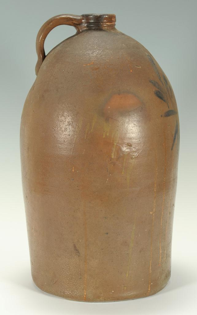 Lot 109: Greene Co. Mohawk decorated stoneware jug