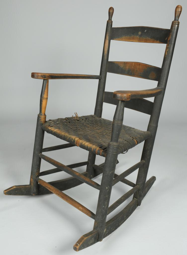 Lot 110: East TN Rocking Chair, 19th c.