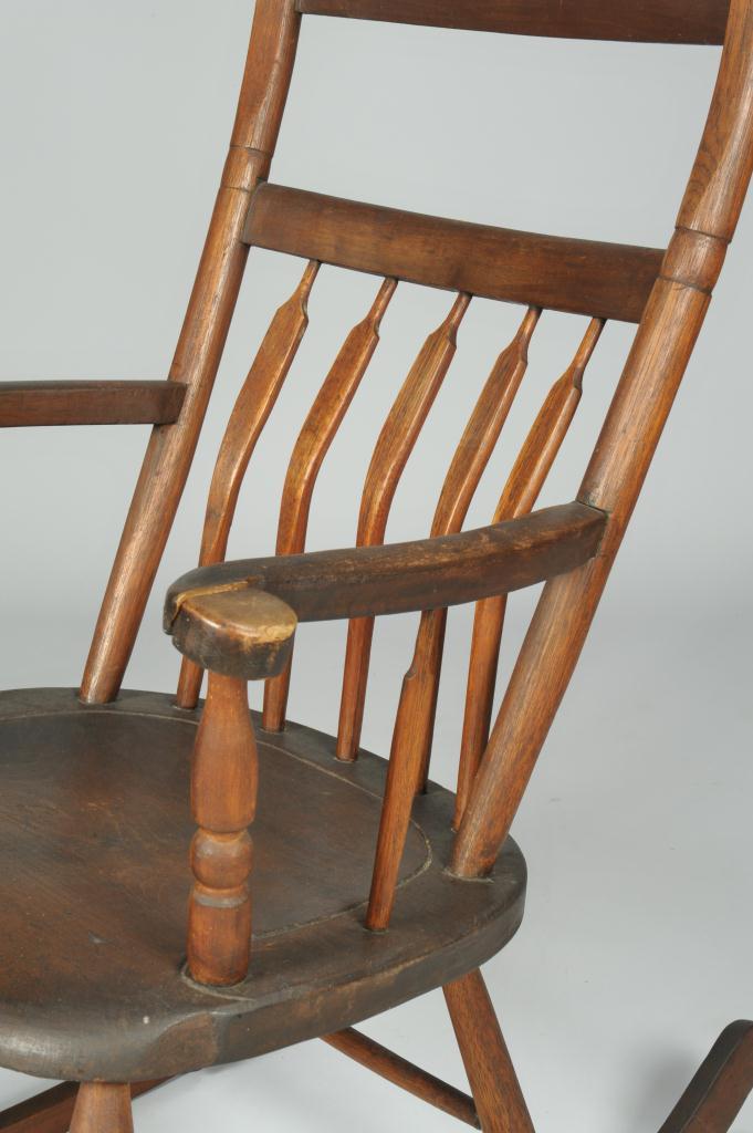 Lot 111: Arrow back Kentucky Windsor Rocking Chair