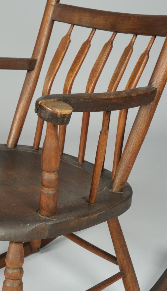 Lot 111 Arrow Back Kentucky Windsor Rocking Chair
