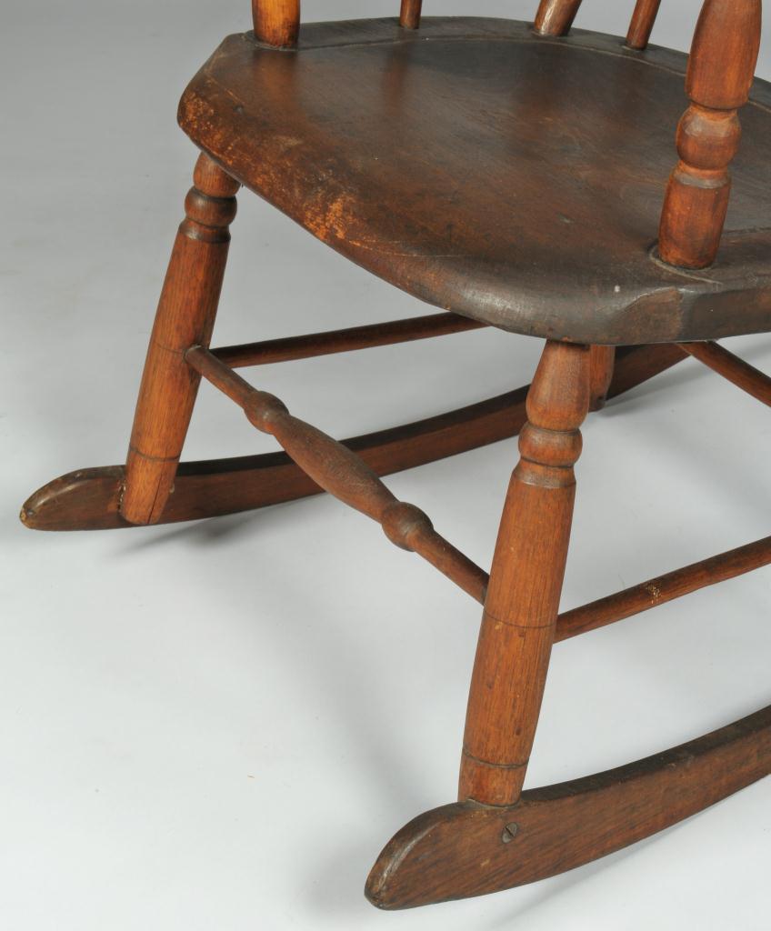 Lot 111 Arrow back Kentucky Windsor Rocking Chair – Windsor Rocking Chairs