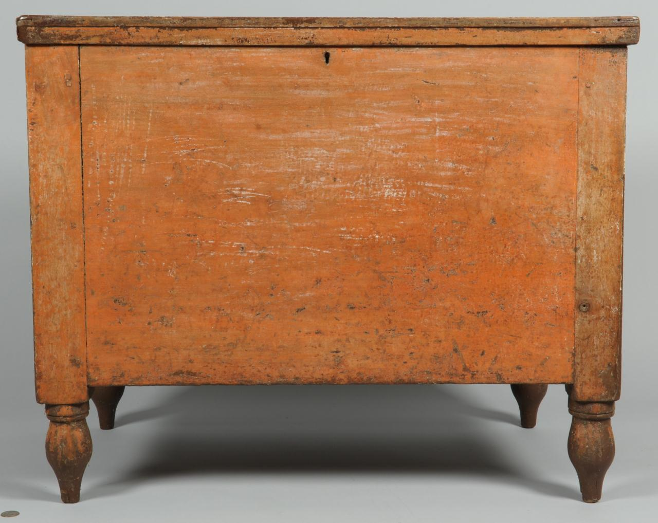 Lot 117: East TN Painted Chest, Sugar Chest Size