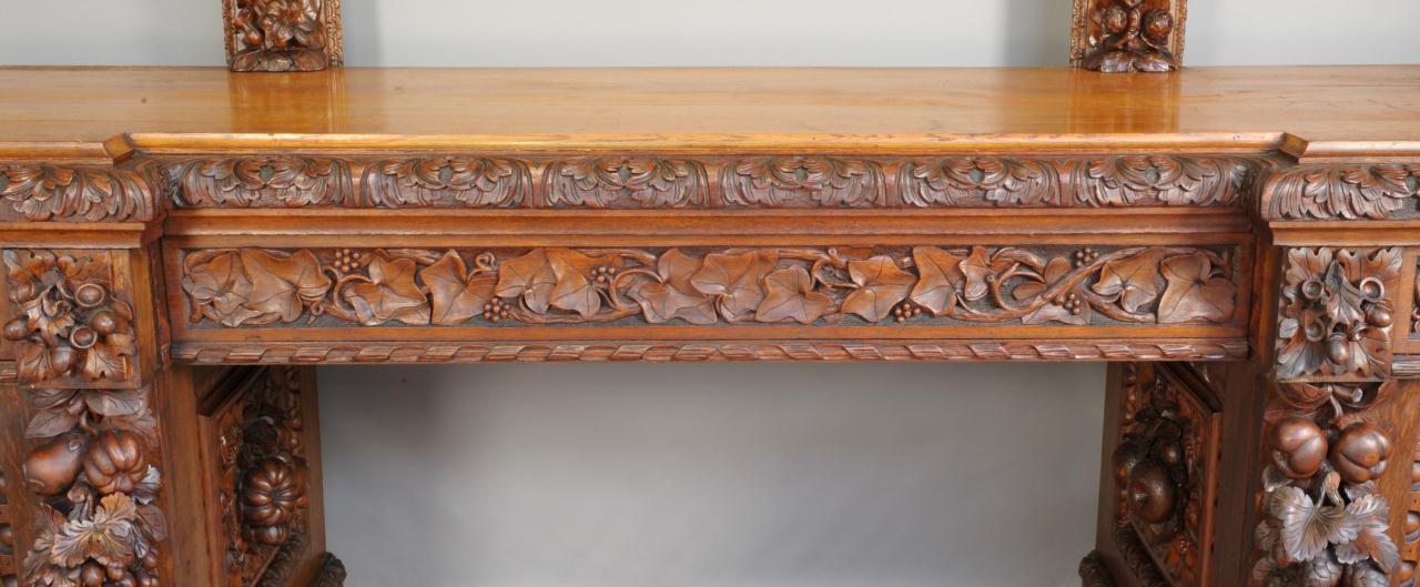 Lot 120: 19th C. Carved Oak Sideboard, Johnny Cash estate