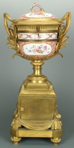 Lot 122: French Porcelain Clock, Cie LeRoy Paris Works