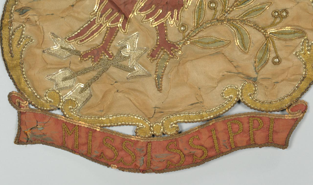 Lot 130: Mississippi state seal embroidered banner