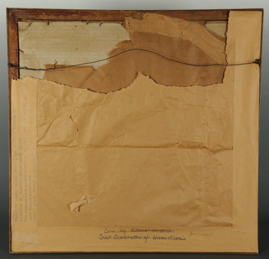 Lot 131: Tennessee Needlework House Sampler, Harriet Bryant