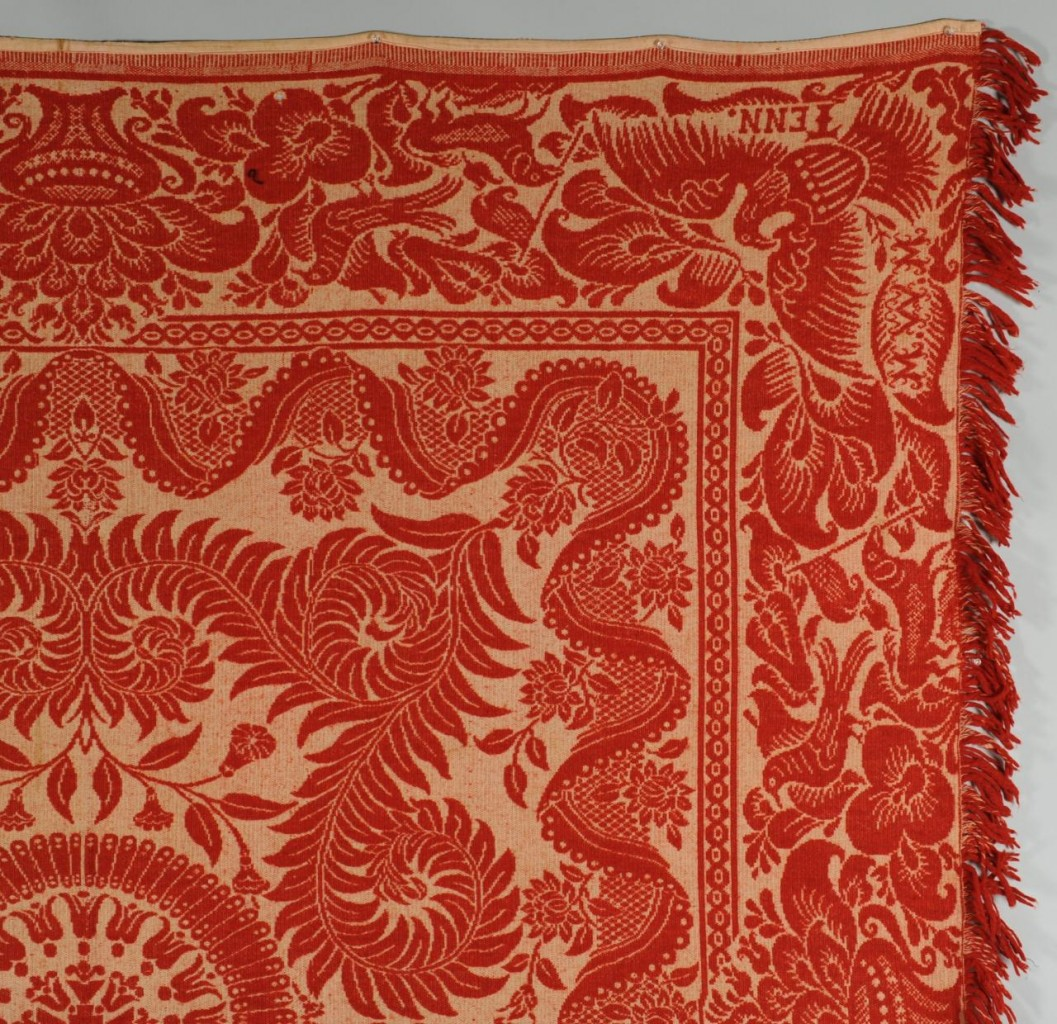 Lot 134: East TN Red and White Maryville Woolen Mill Co. Co