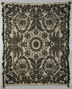 Lot 136: East TN Black and White Coverlet Poss. Maryville W