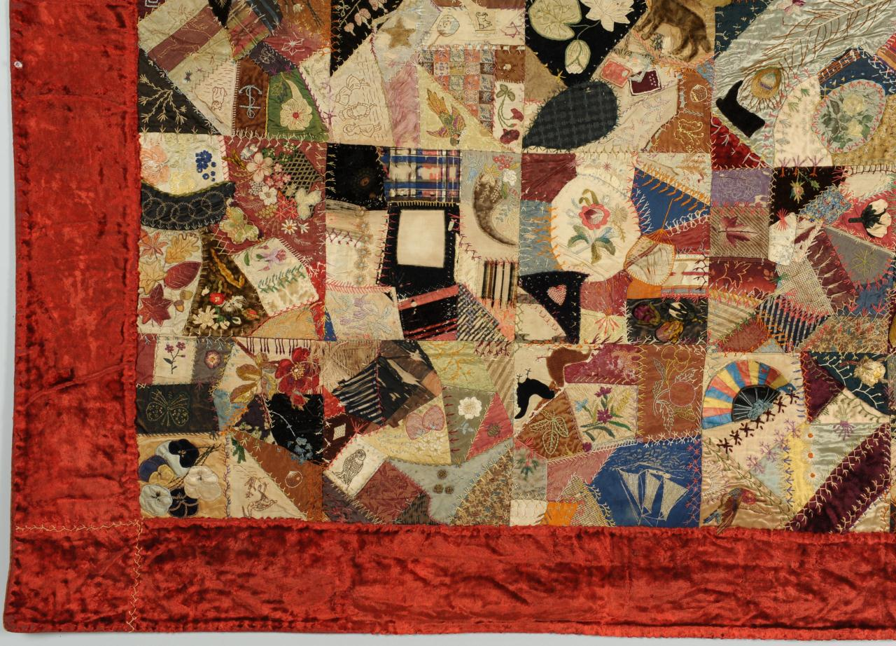 Lot 138: TN Signed and Dated Crazy Quilt