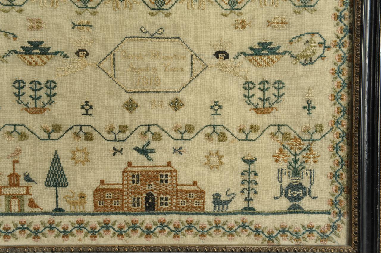 Lot 140: Schoolgirl Needlework Sampler dated 1818