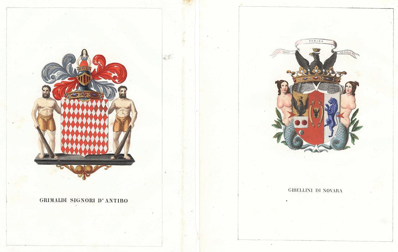 Lot 165: 12 Italian Heraldry watercolors