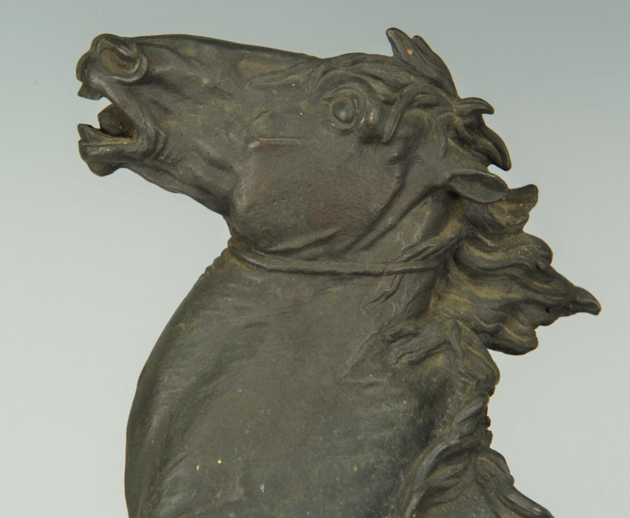 Lot 169: E.A. Lanceray Bronze, Capture of a Wild Horse