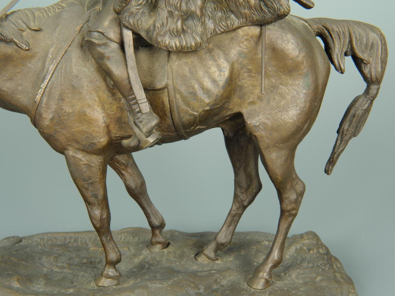 Lot 170: Lanceray Bronze of Soldier on Horseback
