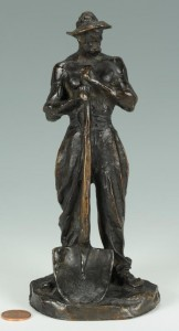 Lot 171: Aime Jules Dalou bronze sculpture